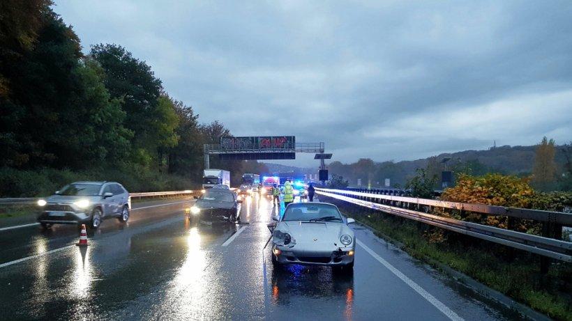 Schwelm: Zwei Unfälle und ein Verletzter auf der A1