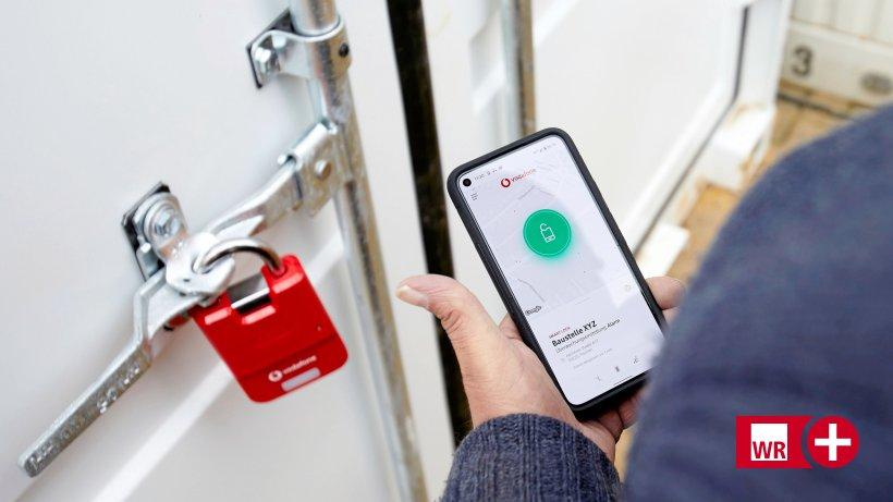 Abus & Vodafone: Handy ersetzt Schlüssel am Vorhängeschloss