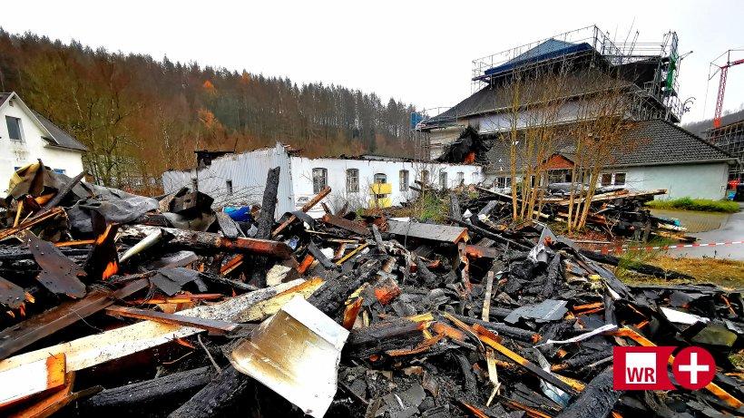Alte Musikfabrik Freudenberg: Feuer zerstört Band-Equipment