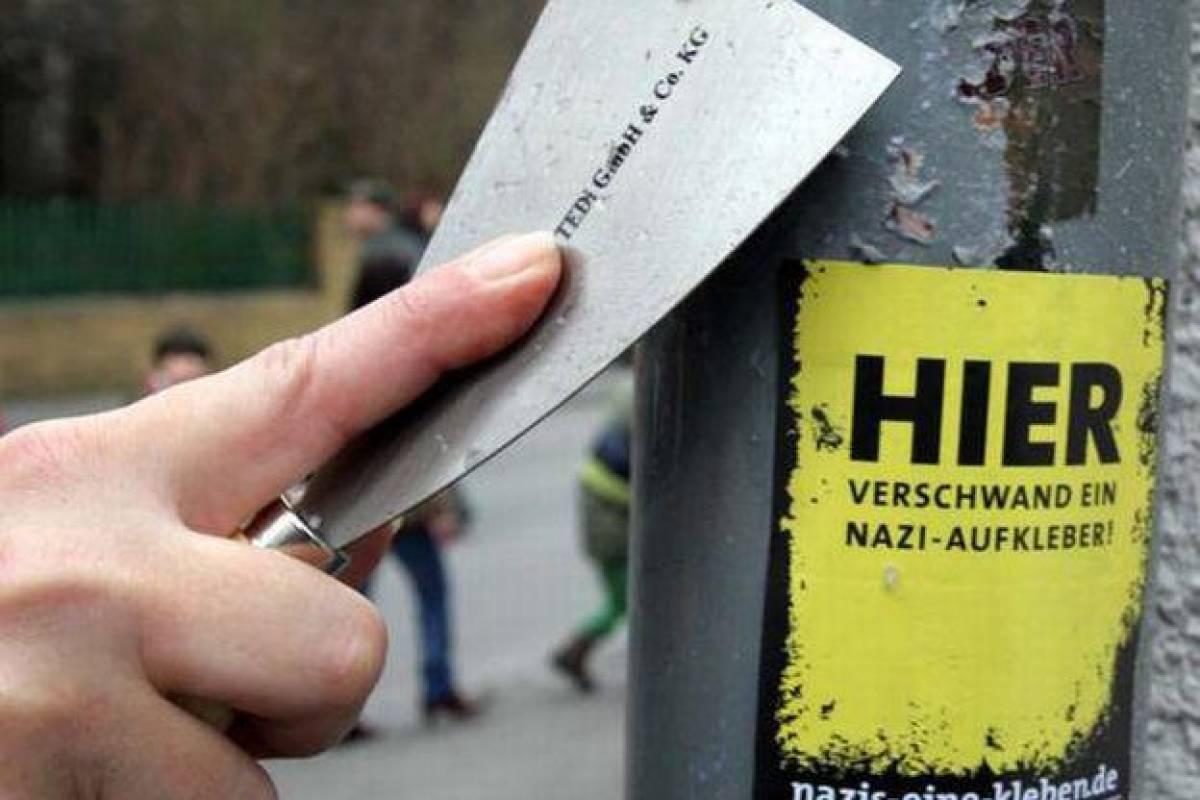 Neonazi Aufkleber überschwemmen Dortmund Dorstfeld Wrde